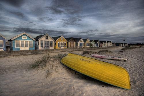 Beach Huts at Mudeford by dgpoole