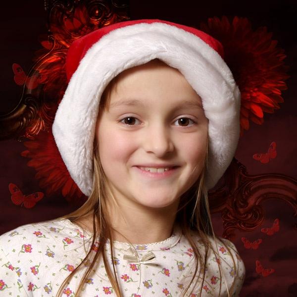 Santa Hat by Curtain