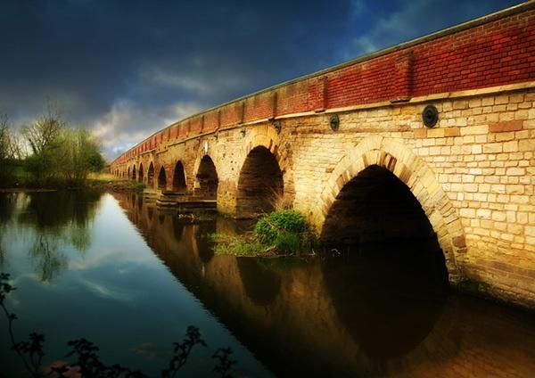 Gt Barford Bridge by Curtain
