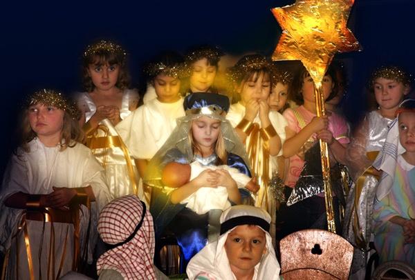 Nativity by Curtain