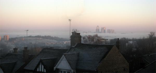 London in fog by maxmelvin19
