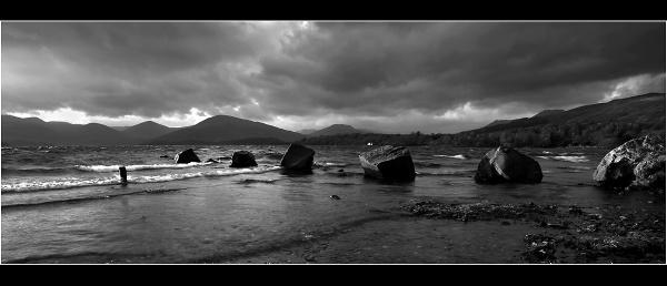 Millarochy Boulders B&W by Nigel_95