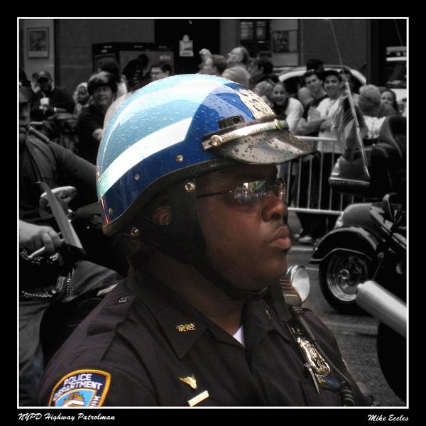 NYPD Highway Patrolman by oldgreyheron
