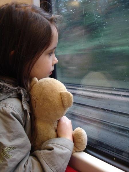 Train journey by Tusha