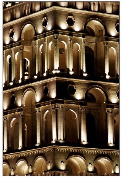 Baku\'s lights by faxriyye