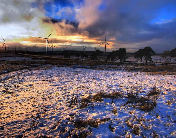 Winter Windfarm by CraigF