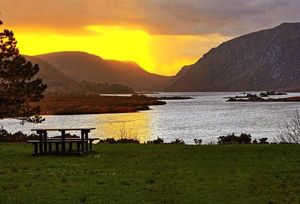 Glenveagh Sunset by irishman