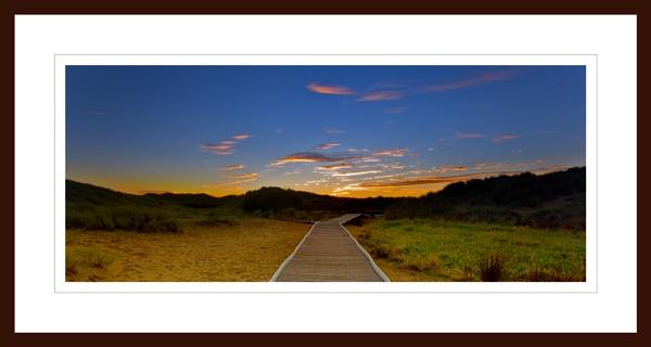 BALMEDIE - FOOTPATH LEADING TO SUNSET by JASPERIMAGE
