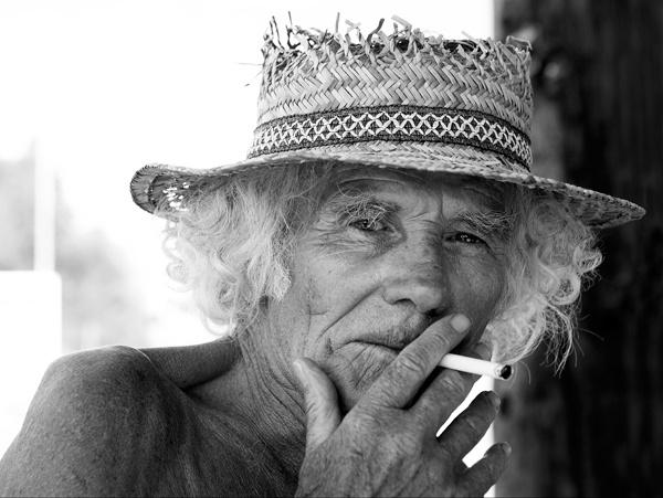 Man in Straw Hat by RoyBoy