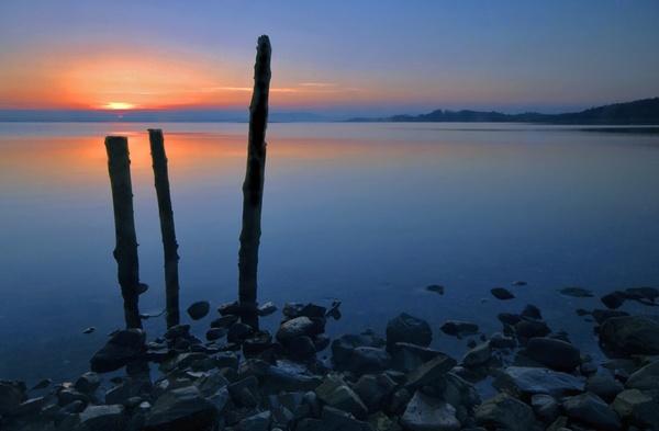 Sunset on the Peninsula by mcsimeyb