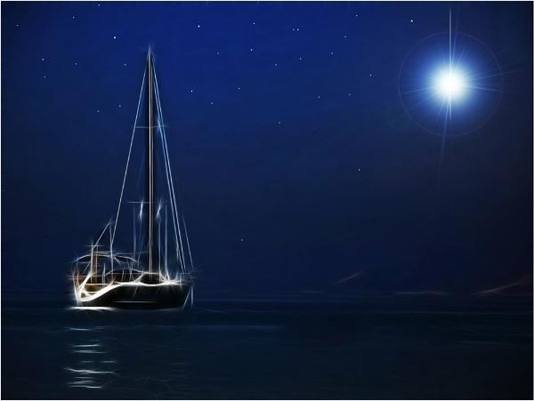 Moonlit Yacht
