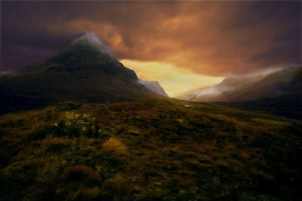 Glencoe ever changing weather by BevHadland