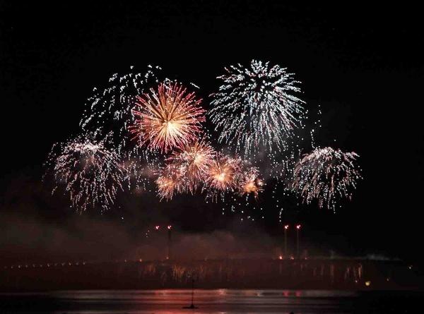 Fireworks on Kessock Bridge by janeyjane