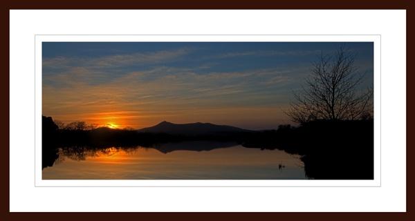 BENNACHIE - SUNSET REFLECTION ON LOCHTER by JASPERIMAGE