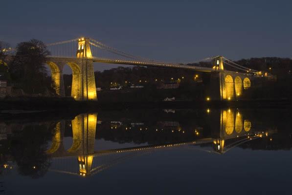 Menai Bridge Reflection by alastairwilson