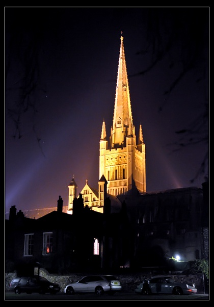 Norwich Cathedral at Night by Blinky