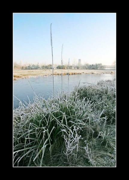 Frozen Village pond by SuPlied
