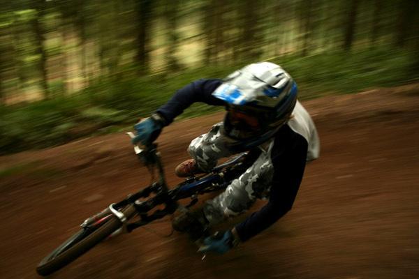 Fast mountain bike corner by phil_24