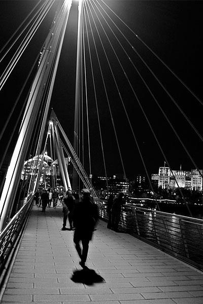Hungerford Bridge, Embankment, London by corkonian