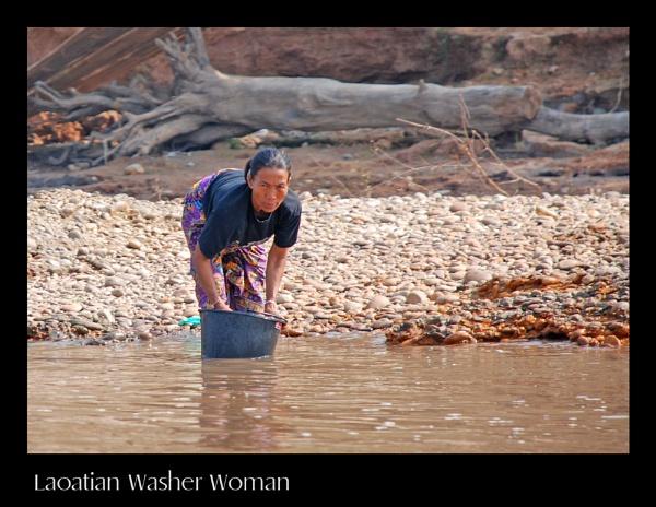 Laoatian Washer Woman by ferguspatterson