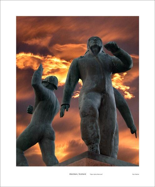 Piper Alpha Memorial by paulmackiemaging