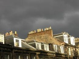 Stormy winter sky