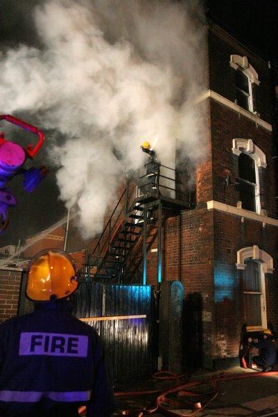 Tramway Hotel fire by philtaylorphoto