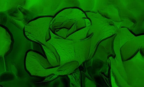 Lucky Green Rose by FlutrByShutrBy