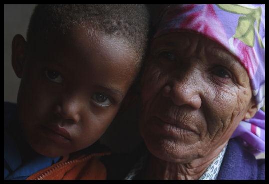 Grandmother + Grandson by challicew