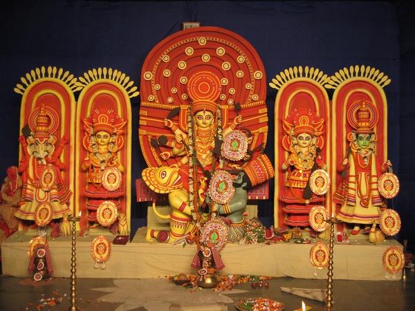 Hindu Godess Durga by Nabs