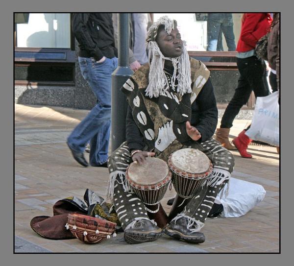 African Drummer by block119er