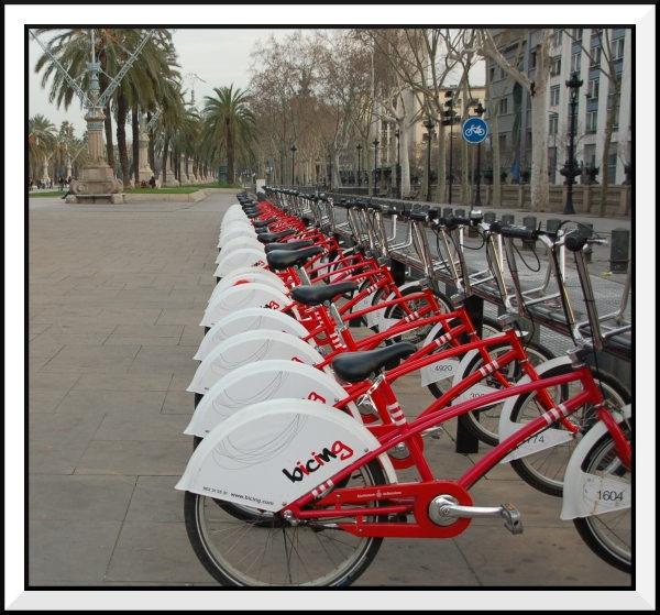 Eco Bikes in Barcelona by jaglin