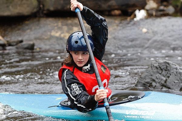 Kayak Girl by Delphin