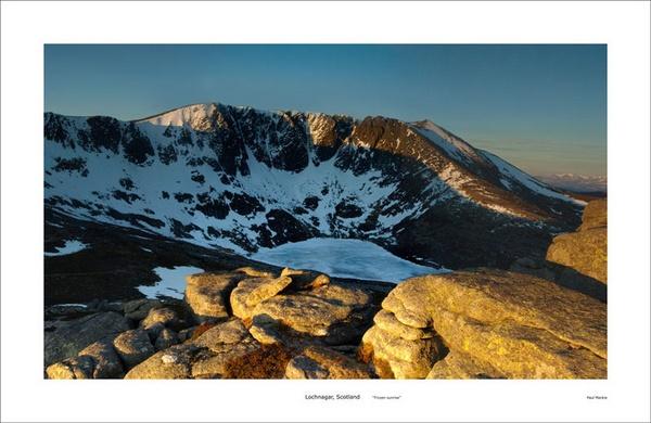 Lochnagar frozen sunrise by paulmackiemaging