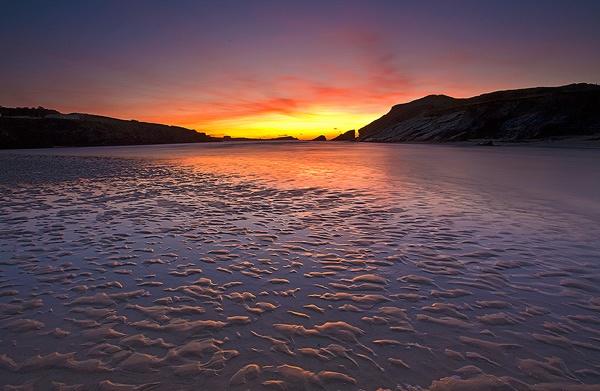 Sunset Over Towan Head by iwool