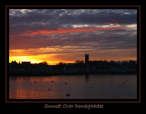 Sunset Over Donaghadee by dancingqueen