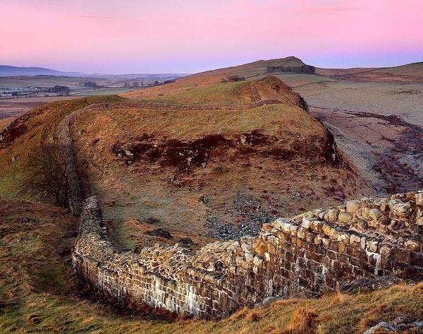 Magenta Dawn Over Hadrian\'s Wall by marschp