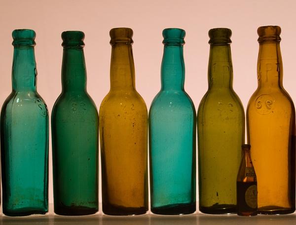 Bottles by sausage