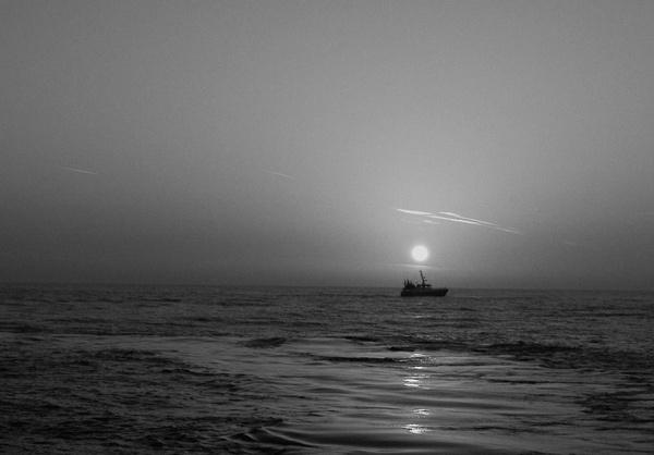 early morning trawler by curlyfilm