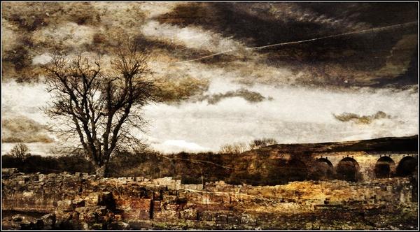 Edlingham Ruins Textured by graeme34