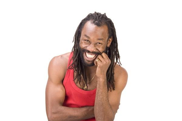 Rasta man laughing by garnham123