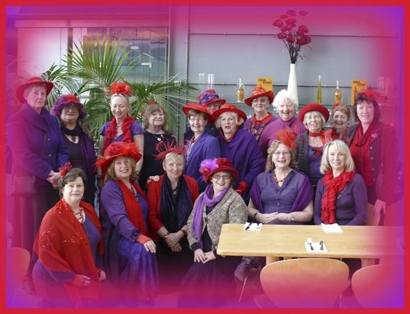 The Red Hat Ladies by auraalan