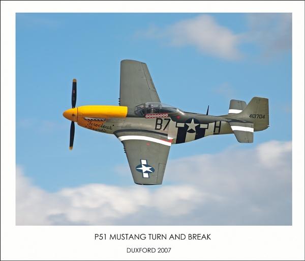 P-51 on the break by acaado1