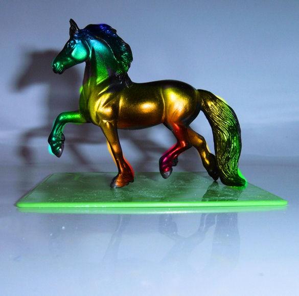 rainbow horse by pony10girl