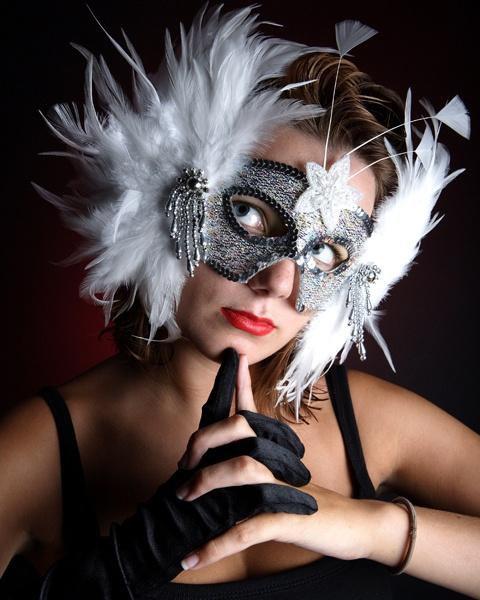 masked girl by LaurenWoodhall
