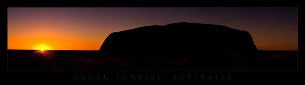 Uluru Sunrise by nickwalker9