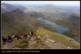 From Snowdon summit