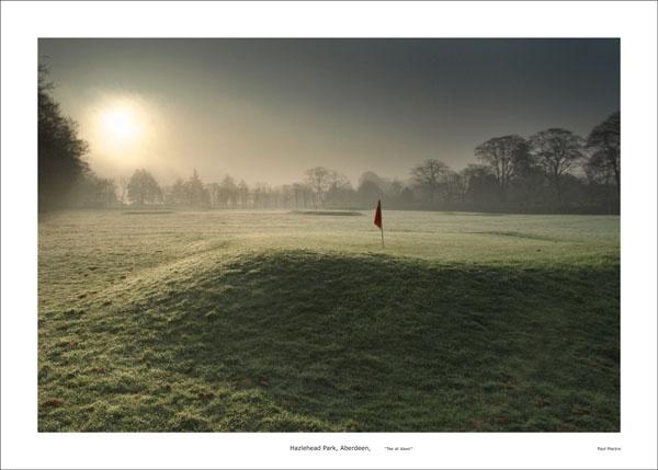 hazlehead aberdeen tee at dawn by paulmackiemaging
