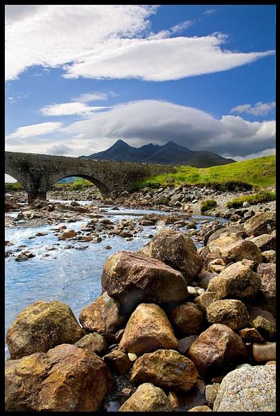 Sgurr nan Gillean from Sligachan (Portrait) by SteveH63