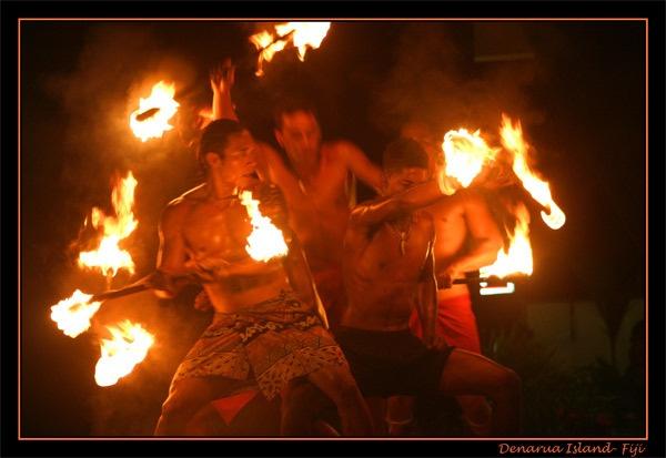 Fijian Fire Dancers by harwood